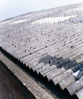 Asbestos corrugated roofing materials