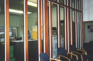 Office glazed partitioning