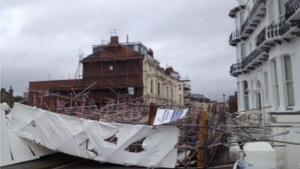 Scaffolding Collapse, courtesty of BBC