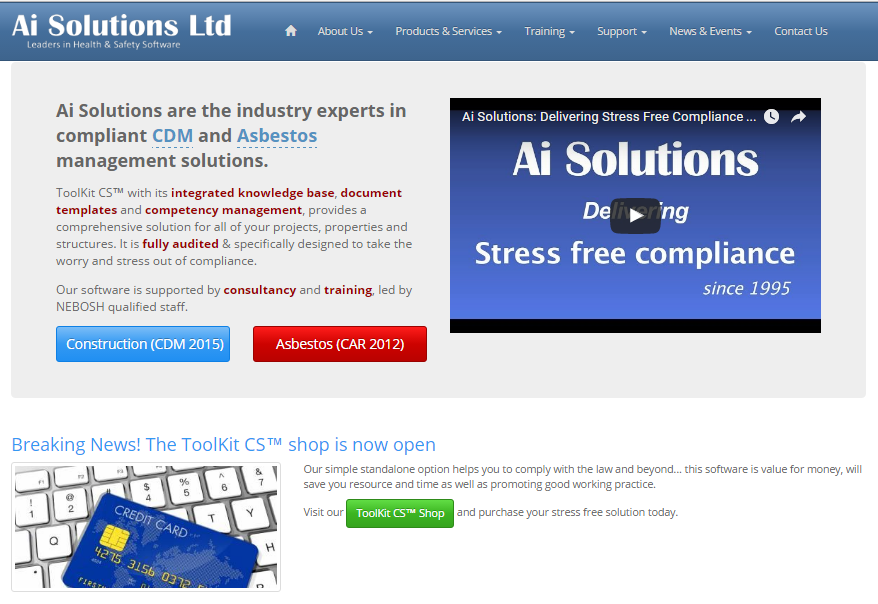 Updated Ai Solutions Website, September 2016