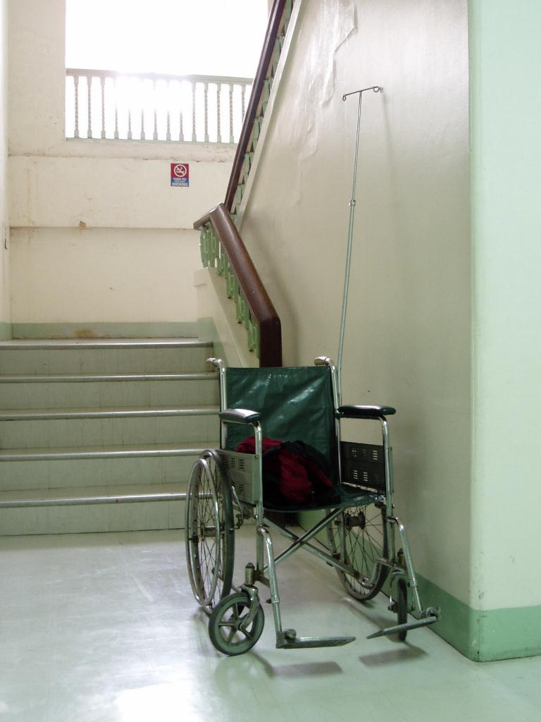 Hospital hallway from freeimages.com - Wheelchair #1473964